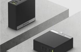闪极发布100W 氮化镓四口充电器,多路同时高效快充,适配更多场景
