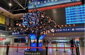 """北京西站""""种""""了一棵大柔树  新春祝福喜上枝头"""